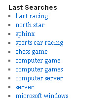 Latest search terms